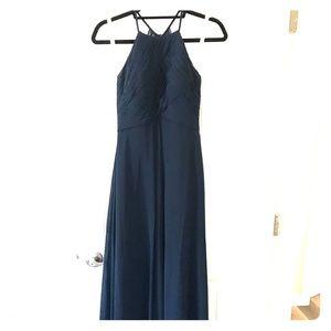 Dark Navy Azazie Ginger Bridesmaid Dress